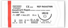 Suture AssuCryl Rapid 4/0 19mm PGA 3/8 CRC
