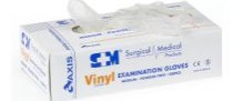 Glove Vinyl S&M Powder Free Clear Large