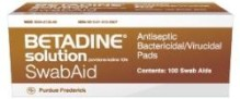 BETADINE ANTISEPTIC SWABS AIDS 100/BOX